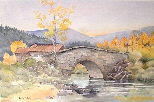 Peintre Sermet Peinture Paysages Provence Auvergne Fleurs Huile