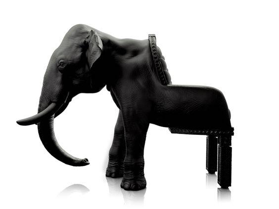 "Aptly-named ""Elephant Chair"" by the Spanish designer Máximo Riera."