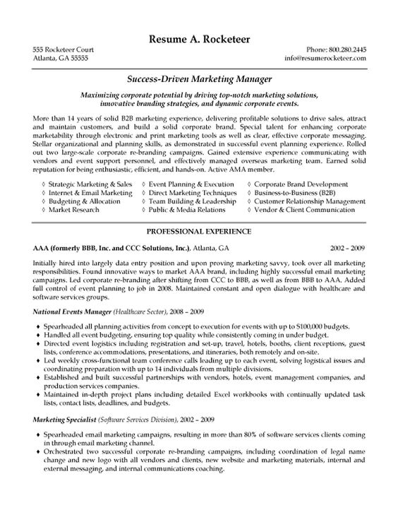 b2b marketing manager resume exle resume exles