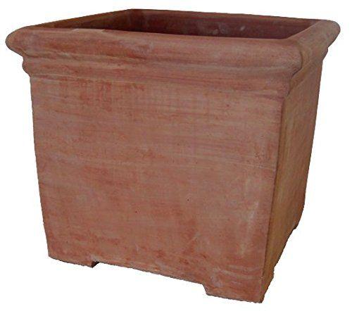 Terrakotta Siena Quadro Con Piedi 33cm Blumentopf Pflanzgefass