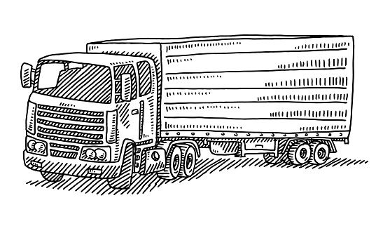 Trailer Truck Drawing