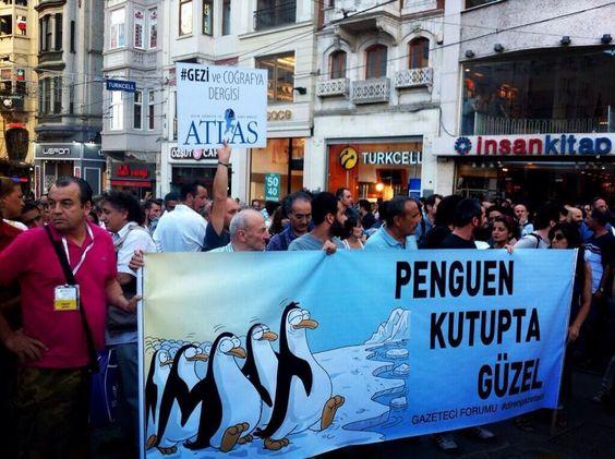 #direngazeteci 12.07.2013 gazeteciler Taksim'de protesto yürüyüşünde