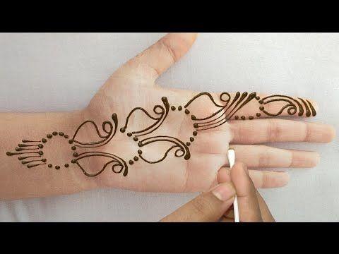 front hand mehndi design arabic easy simple cone designs