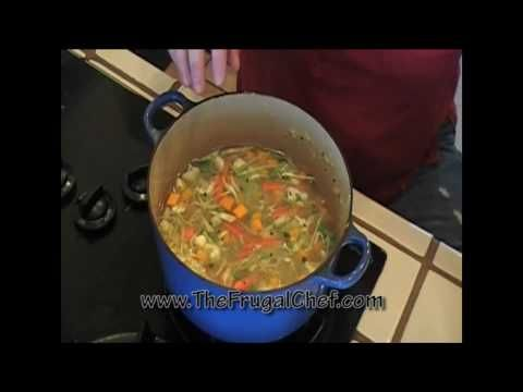 How to Make an Easy Vegetable Soup - Vegan Recipe