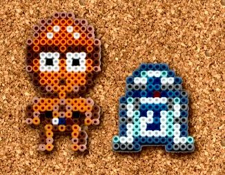 This is an original sprite made into perler bead art made by me. C3PO was a little hard to make when I compared him to the exiting ones out there, the big one gave the detail but too much perlers b...