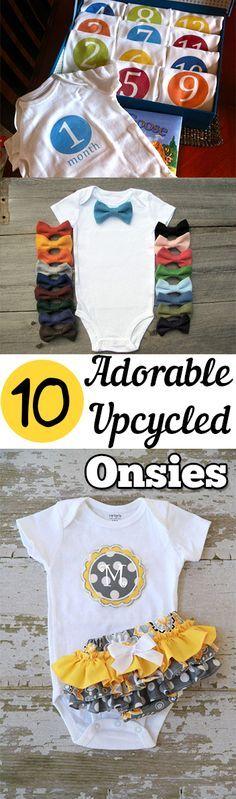 10 Adorable Upcycled Onsies. DIY, DIY clothing, sewing patterns, quick crafting, tutorials, DIY tutorials.