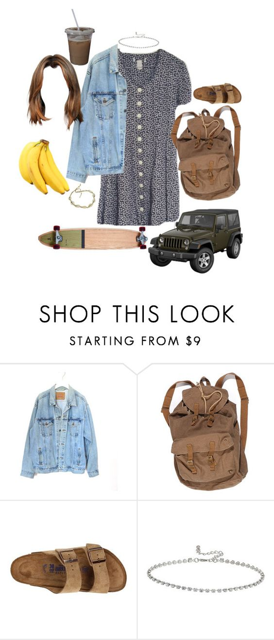 """""""thursday"""" by stylistcookies ❤ liked on Polyvore featuring Levi's, Wrangler, Birkenstock and Topshop"""
