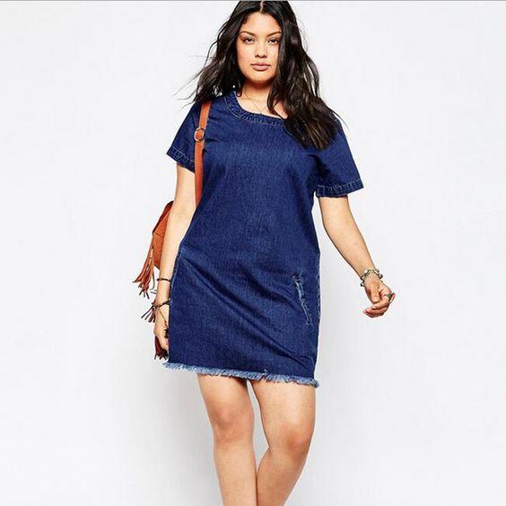 Denim Dress 2016 Summer Causal O-Neck Short Sleeve Jeans Tassel MiNi Straight Dresses Vintage Plus Size Femme Vestidos DR181: