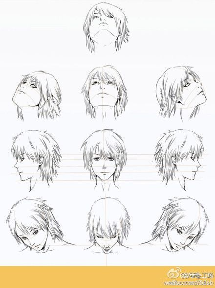 Image Result For Drawing Reference Looking Up Anime Character Drawing Manga Drawing Anime Head
