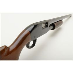 "Remington Model 31 pump action shotgun, 16 gauge, full choke, 28"" barrel, blue finish, wood stocks,"