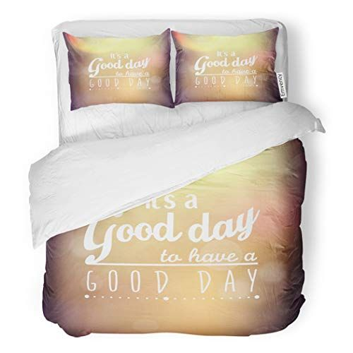 Sanchic Duvet Cover Set Day Inspirational And Encouraging Quote