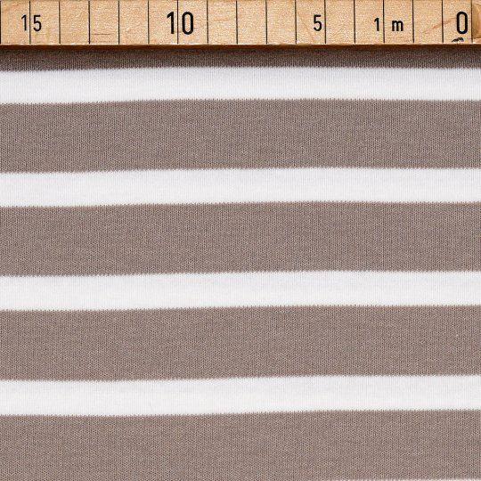 BIO Interlock XL Stripes Weiß auf Zimt