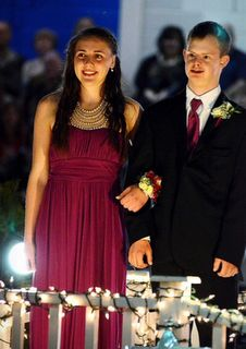 A teen with Down syndrome is crowned prom king: love, love, love this video.