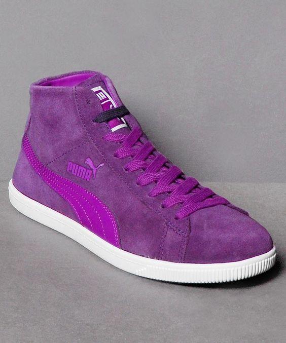 Neu im Shop: der Puma Glyde Mid Wn's in Violet - http://www.numelo.com/puma-glyde-wnlsquos-p-24512239.html #puma #glydemid #basketballschuhe #sneaker #numelo