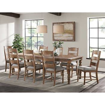Magnus 9 Piece Counter Height Dining Set Rectangular Dining Set 7 Piece Dining Set Dining Room Furniture 9 pc dining room table sets