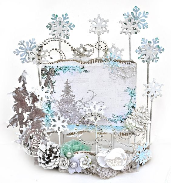 Wintery Card Holder - Prima DT - Scrapbook.com