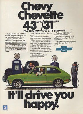 This high MPG Chevy ad makes me think back to my 1986 Jetta Turbodiesel that consistently gave me over 50 MPG in real world hard driving...