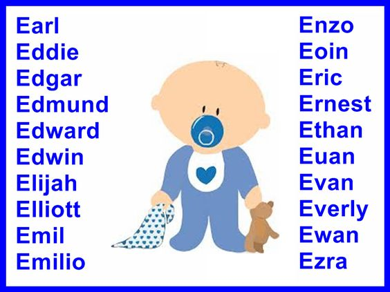 Boys Names Starting With EWhere They Come From And What Mean
