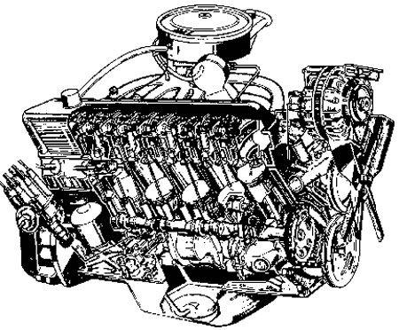 Worksheet. Dibujo de un motor V8 por el interior  Autopartes32C  Pinterest