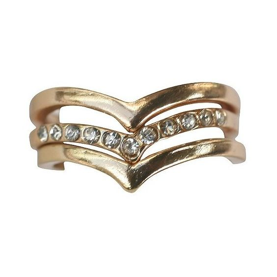 Zirconite Knuckle Chevron Ring with Crystal Accents ($15) ❤ liked on Polyvore featuring jewelry, rings, gold, gold knuckle rings, chevron knuckle rings, gold jewelry, chevron jewelry and knuckle jewelry