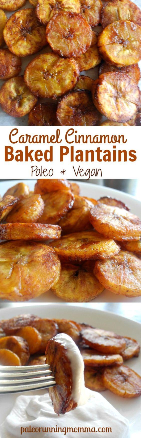 plantain coconut oil paleo vegan sea salt cinnamon baked plantains ...