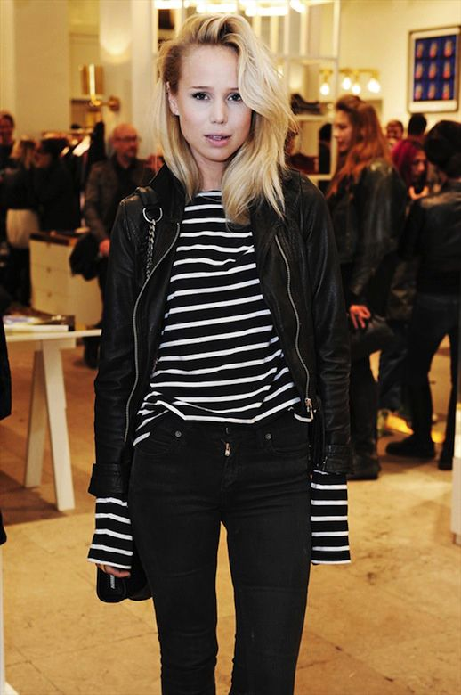ELIN KLING | LEATHER + STRIPE MIX (I think I own everything to make this outfit happen...)