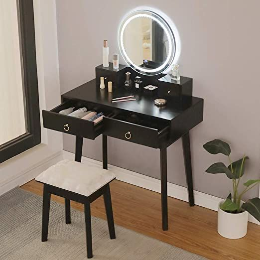 Bedroom Vanity Set Black