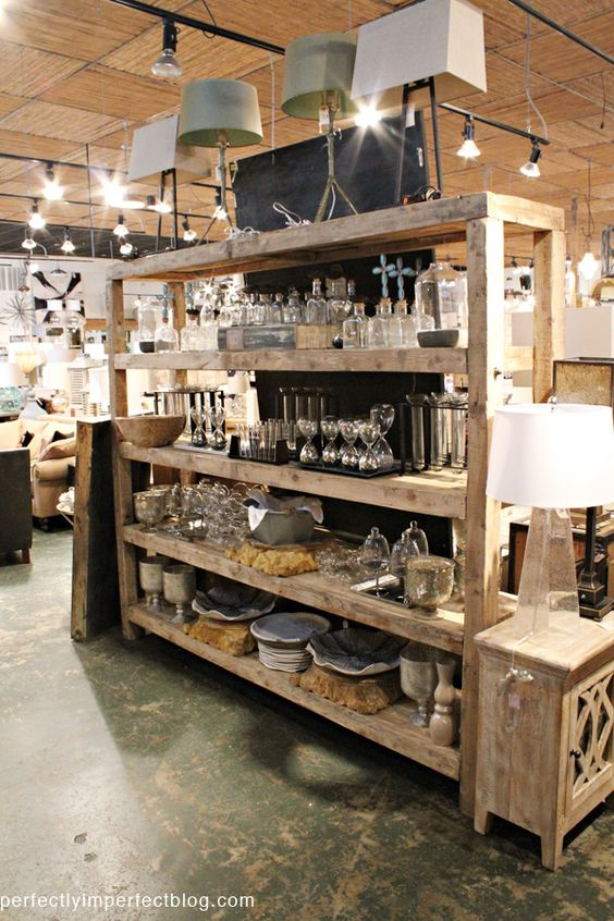 Pantry Rustic Shelves And Shelving On Pinterest