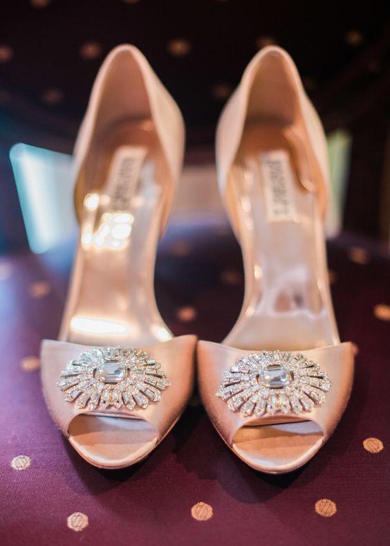 Pink wedding heels.