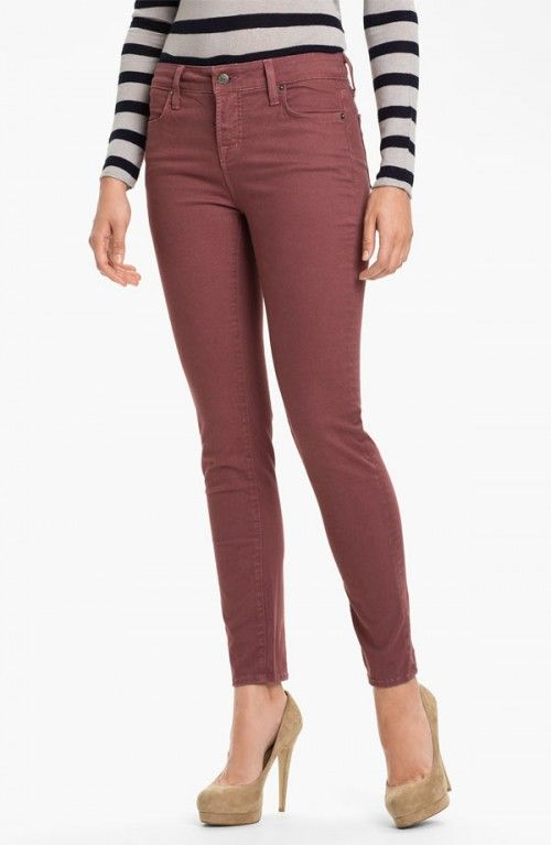 nordstrom jeans | Blue Essence Skinny Twill Ankle Jeans Nordstrom Exclusive Women's Rose ...