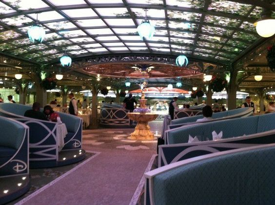 The Enchanted Garden Restaurant on the Disney Fantasy.