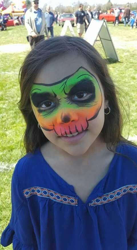 Neon skull facepaint