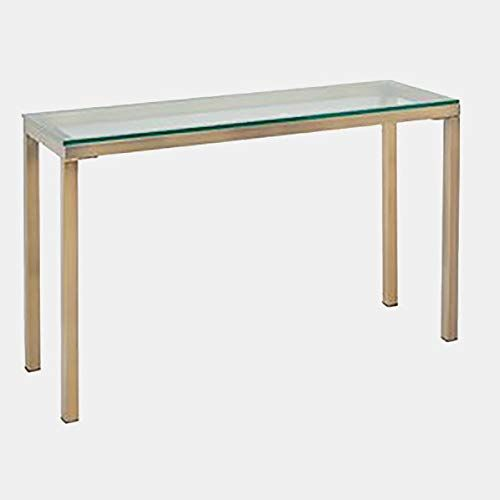 Metal Console Table With Glass Top Rectangular Console Table With Square Legs Gold Metal Console Table Metal Console Console Table