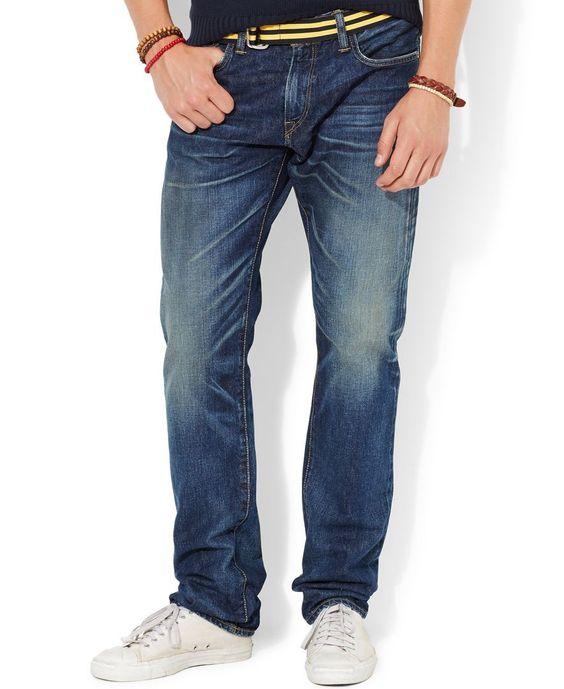 Polo Ralph Lauren Varick Slim-Straight Rockford-Wash Jeans