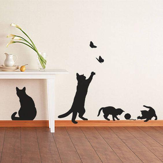 Decoração com gatos Oooi gente, tem post novo no Blog, decoração com gatos. Confira: