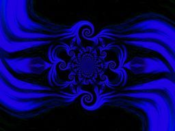 Light Storm  Blue Mandala 1
