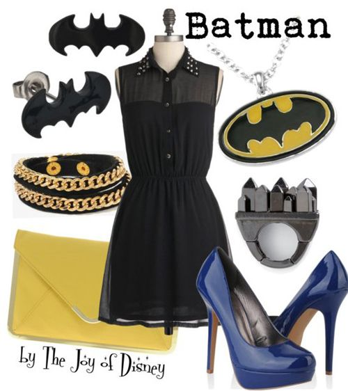 Outfit inspired by Batman....I need this to wear all the time!
