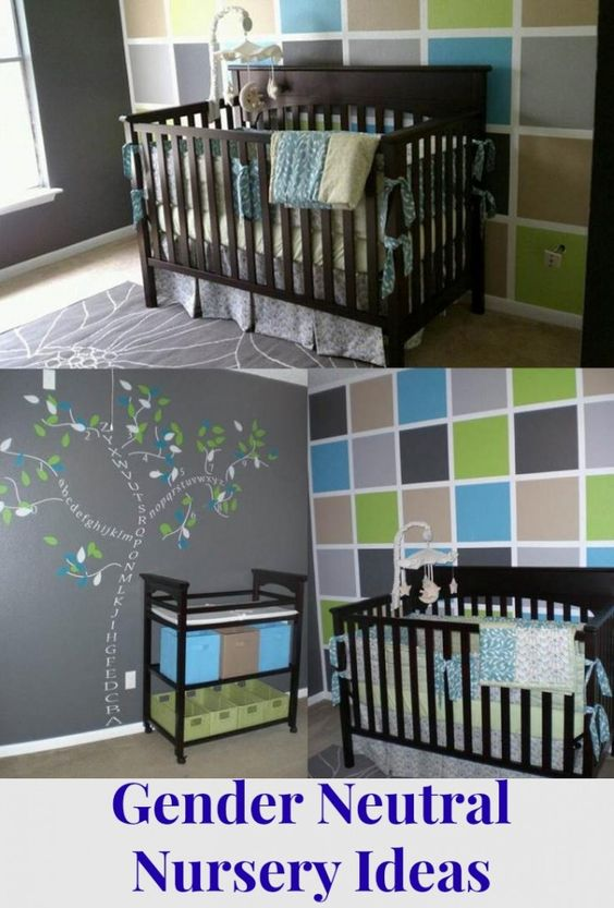 Accent Walls Nursery Color Schemes And Shades Of Blue On