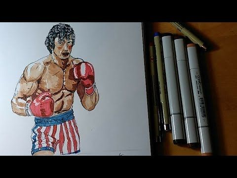 How To Draw Rocky Balboa Youtube Con Immagini Disegni