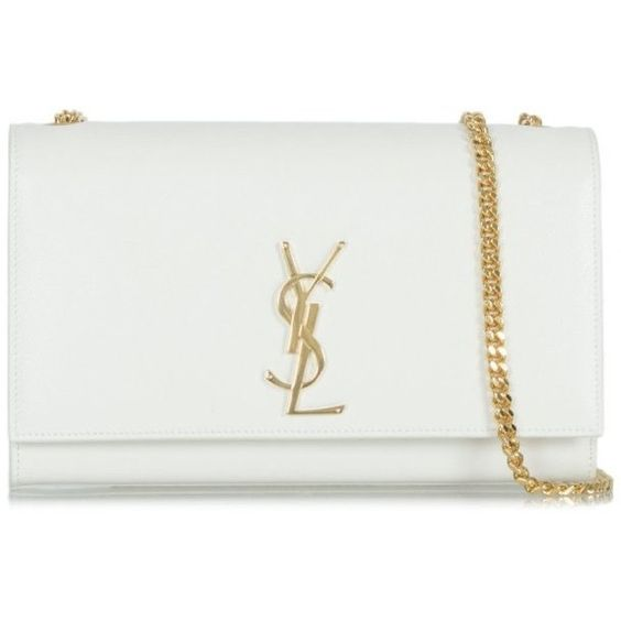 ysl tote bag price - Saint Laurent White YSL Classic Monogram Shoulder Bag ($1,865 ...