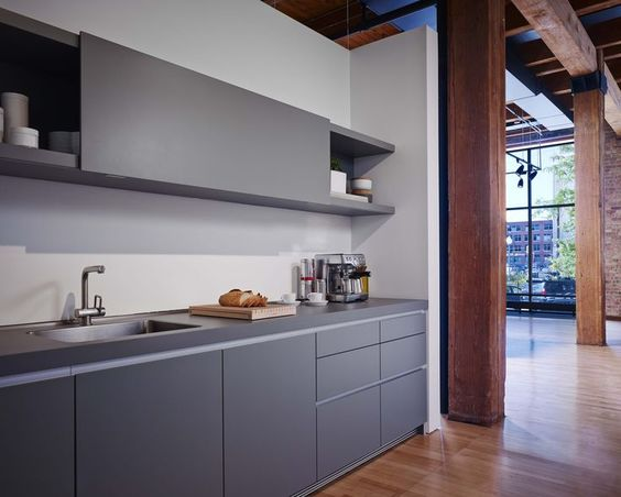 Showroom chicago and gray on pinterest for Bulthaup beton