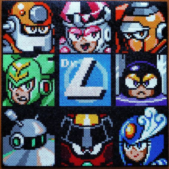 Mega Man 9 perler beads bygogmansparlor