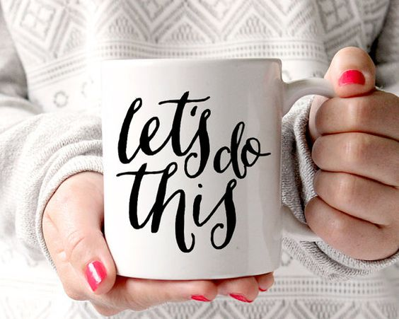 Let's Do This Ceramic Coffee Mug by fineanddandypaperie on Etsy