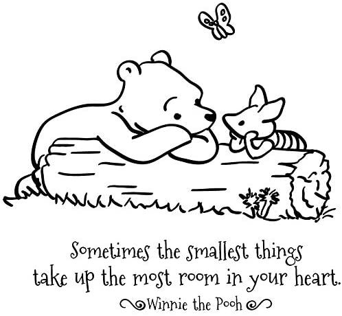 Amazon Com 24 X24 Sometimes The Smallest Things Take Up The Most Room In Your Heart Winnie The Pooh W In 2021 Quote Coloring Pages New Adventure Quotes Disney Quotes