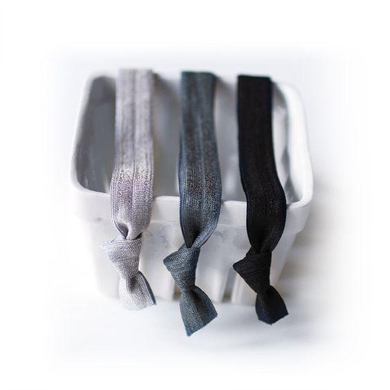 Perfect Headbands - New Greyscale - Set of 3 Elastic Headbands