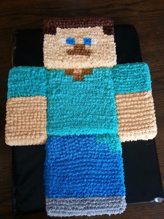 Minecraft cake Steve: