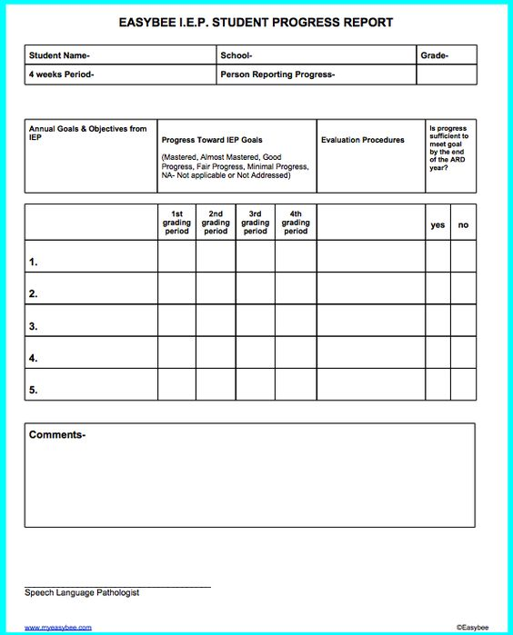 simranu0027s copy - Google Docs l Pinterest Google docs - student progress report template