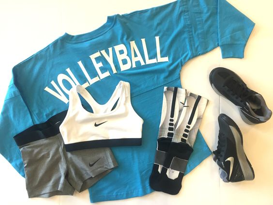 volleyball spirit jersey, nike hyperspike, nike pro spandex, nike pro sports bra, nike elite socks
