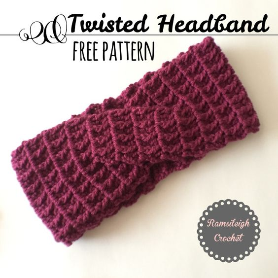 Twisted Headband Free Pattern Ramsileigh Crochet