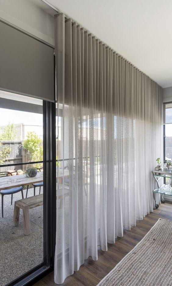 Estores combinados con cortinas